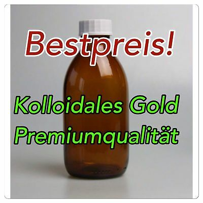 ✅ 1000 ml Kolloidales Gold Goldwasser 10 ppm in Premiumqualität ✅