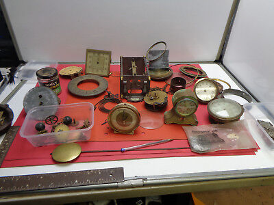 Vintage clock movement parts Tempus Fugit skeleton Emes Westclox LOTCLKK41