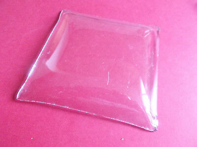 Used Replacement Convex Square Clock Glass 100mm