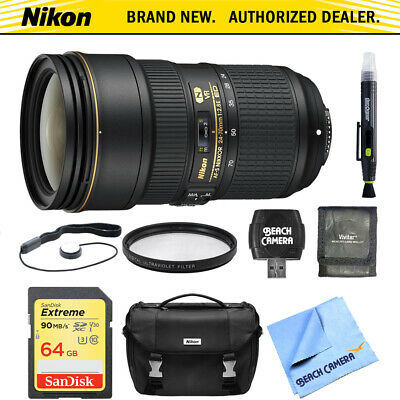 Nikon 24-70mm f/2.8E ED VR AF-S NIKKOR Zoom Lens 64GB Bundle