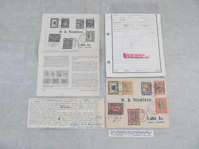 Nystamps Russia Occupation stamp post history cover paid $450 in 1972