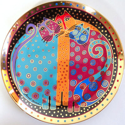 Laurel Burch Cat Plate Freckled Felines Vtg 1996 Franklin MInt Ltd Ed Numbered