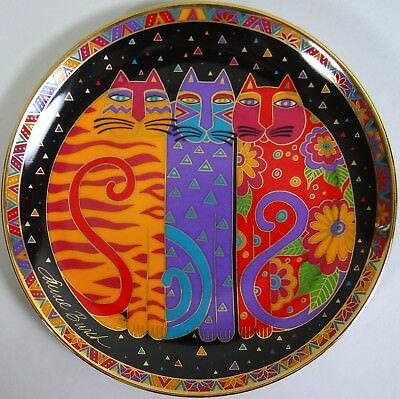 Laurel Burch Cat Plate Fanciful Felines Vtg 1995 Franklin MInt Ltd Ed Numbered