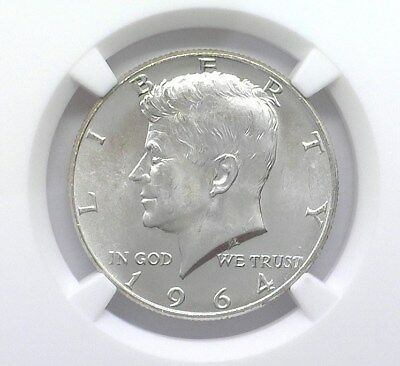 1964 Kennedy Silver 50 Cents Ngc Ms66 Looks 67! Bright White!