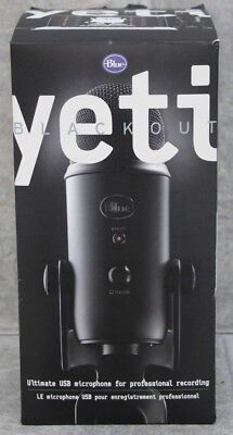 Blue Yeti Blackout Ultimate USB Microphone for Professional Recording