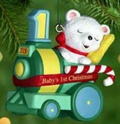 2000~Hallmark~Baby's First Christmas~Child's Age Collection~Bear~Train~Dated