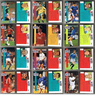 Proset Pro Set 1990-91 Football Player Cards – Various Teams F to N