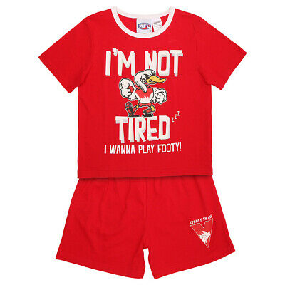 AFL Sydney Swans Toddlers Pyjama Set.