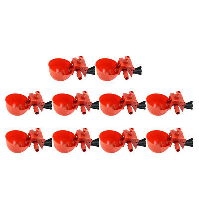 10 Pack Poultry Water Drinking Cups, Plastic Chicken Hen Automatic Drinker