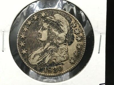 1830 Capped Bust Silver Half Dollar - VF