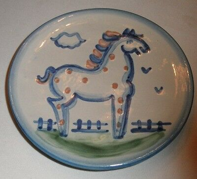 "M A Hadley 1 Bread Plate 6"" Country Horse PONY"