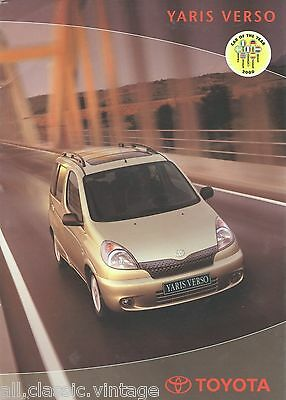 TOYOTA - YARIS VERSO - full brochure/folder Dutch 2000
