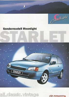 TOYOTA - STARLET Moonlight - brochure/folder German 1997
