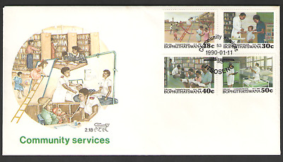 Cover BOPHUTHATSWANA First Day 1990 COMMUNITY SERVICES 11/01/90