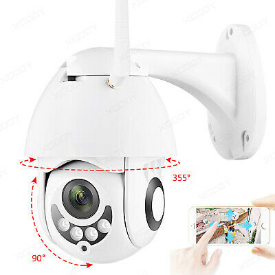 Wireless 5X Zoom 1080P HD Full Color IP Camera Waterproof Wifi Night Vision PTZ