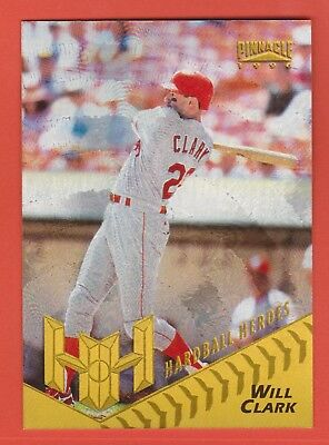 1996 Pinnacle Hardball Heroes Starburst Will Clark Texas Rangers #170