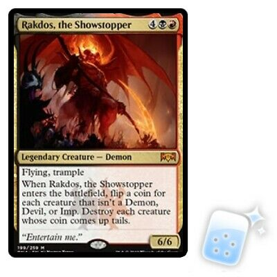 RAKDOS, THE SHOWSTOPPER Ravnica Allegiance RNA Magic MTG MINT CARD