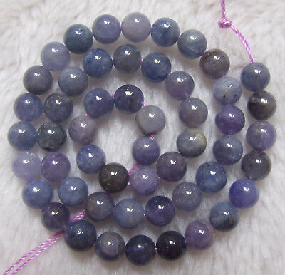 3mm 5mm 7mm 8mm 9mm 12mm Natural Tanzanite Round Loose Beads 16""