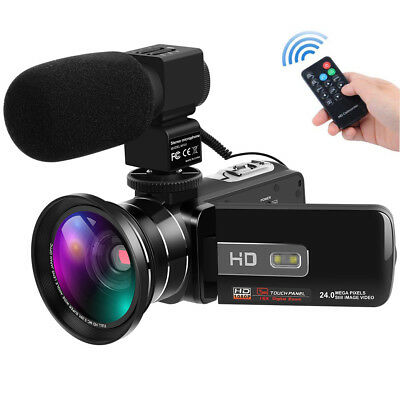 Digital Camcorder Full HD 1080P 30FPS 24MP IR Night Vision Video Camera with Mic