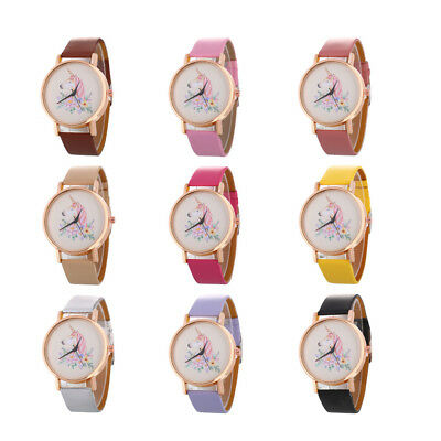 2019 Cute Watch Fashion Children Girls Unicorn Quartz Cartoon Wrist Watches Gift