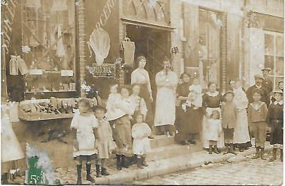 C.P.A. - Epicerie - Mercerie - SULLY-sur-LOIRE (45) - Carte Photo - 1913