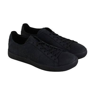 6130b0dff09 PUMA X STAMPD Clyde Mens Black Leather Lace Up Sneakers Shoes ...