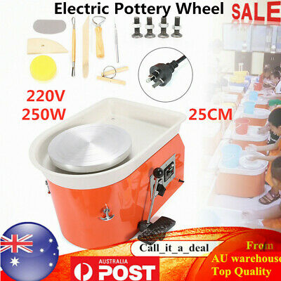 250W Electric Pottery Wheel Ceramic Molding Forming Machine 25CM for Art Craft