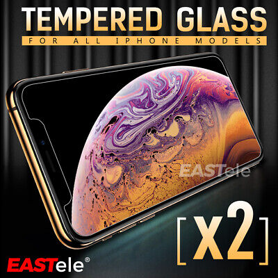 2x EASTele For Apple iPhone 8 Plus 7 6s Plus Tempered Glass Screen Protector
