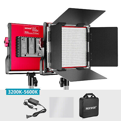 Neewer Red Bi-color Dimmable Photography 660 Beads LED Video Light with Barndoor