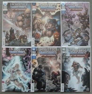INJUSTICE vs MASTERS OF THE UNIVERSE #1-6 SET..TIM SEELEY..DC 2018 1ST PRINT..NM