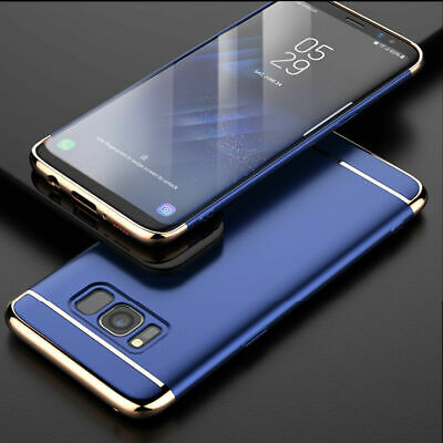 For Samsung Galaxy S7 Silver Luxury Ultra Slim Shockproof Hybrid Case Cover