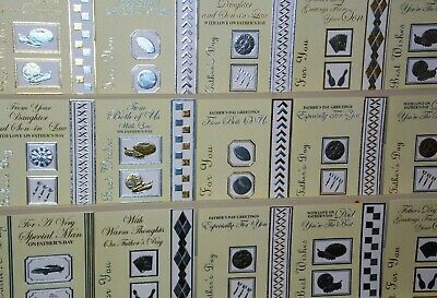 AMAZING FATHER'S DAY OFFER! 16p! 150 CARDS, 25 DESIGNS, WRAPPED,  (FD1