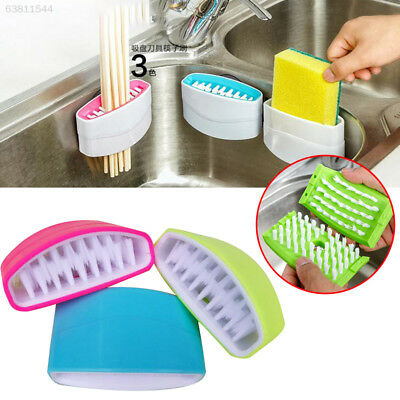 434F Kitchen Sink Spoon Cutlery Cleaners Dish Washing Cleansing Sponge Brush