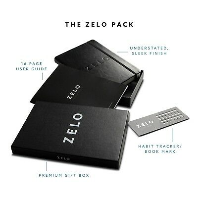 The Zelo Journal - 2019 Goal Planner Diary - Increase Productivity & Motivation