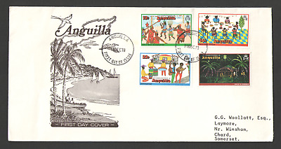 Cover ANGUILLA First Day 1978 CHRISTMAS ISSUE 11/12/78