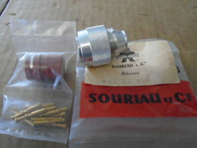 1 Ea Nos Souriau 12 Pin Male Electrical Connector    P/N: 842-31-850