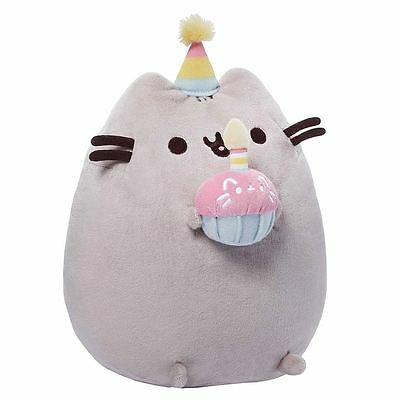 NEW Officially Licensed GUND Pusheen the Internet Cat Birthday Plush Toy