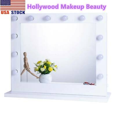 Hollywood Makeup Vanity Mirror Light Aluminum Dimmer White+FREE 14 bulbs LED USA