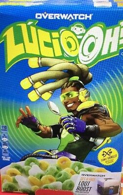 *NEW* Limited Edition Lucio OH'S Blizzard Overwatch Cereal   TWO/10.1oz Boxes