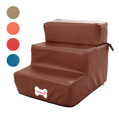 Pet Dog Stairs Home Faux Leather Foldable Two-story Staircase Cat Accessory 1PC