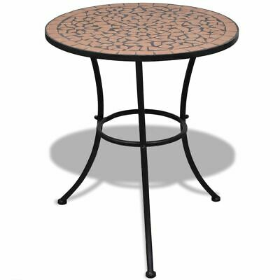 vidaXL Mosaic Table 60cm Terracotta Outdoor Garden Balcony Patio Furniture