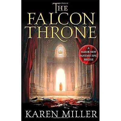 (Very Good)-The Falcon Throne: Book One of the Tarnished Crown (Hardcover)-Mille