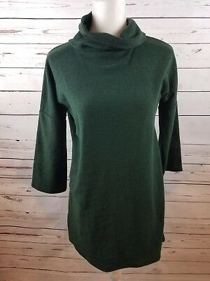 Isabel Maternity by Ingrid & Isabel 3/4 Sleeve Cozy Fleece Pullover - Green - XL