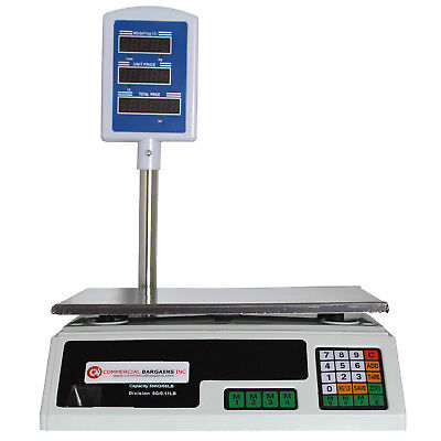 Scale Food Price Digital Computing Produce Meat Deli Weight Counting 60LB ACS-30
