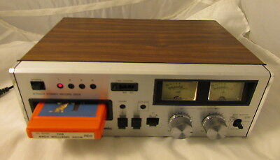 Vintage ~ PANASONIC STEREO 8-TRACK TAPE PLAYER / RECORDER ~ RS-808 - NEW BELTS