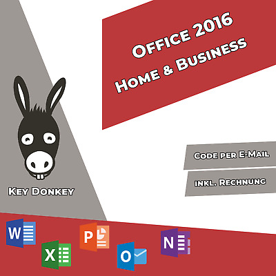 Microsoft Office 2016 Home and Business - 32/64 Bit