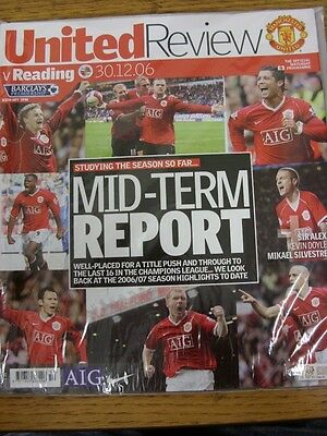 30/12/2006 Manchester United v Reading [Championship Season] . (Any noticable fa
