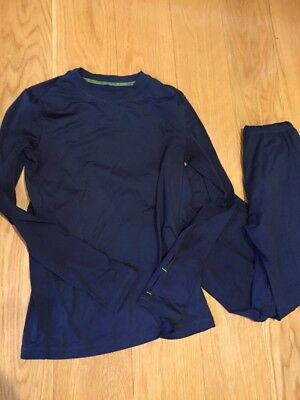 Climatesmart Comfortech Poly Boys Base Layer Pants & Long Sleeve Top Sz Medium