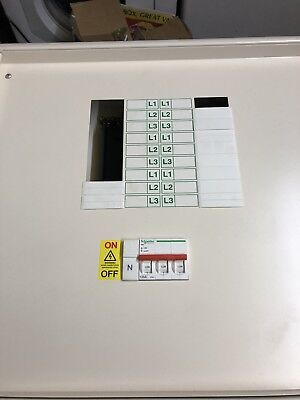 Schneider Acti 9 6 Way Distribution Board TPN Consumer Unit