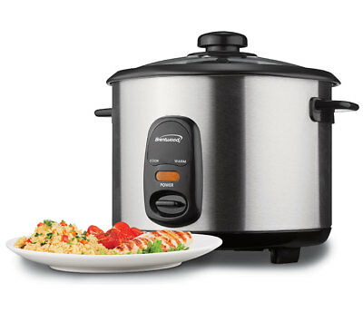 BRAND NEW Brentwood TS-20 10-Cup Rice Cooker, Stainless Steel
